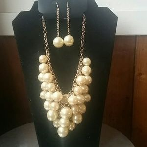 Jewelry - Pearl Cluster Set NWOT